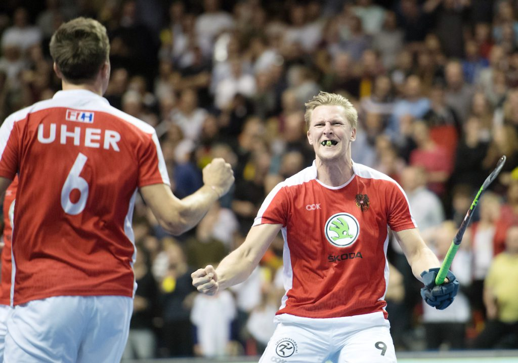 BERLIN - Indoor Hockey World Cup Final: Germany - Austria foto: Michael Körper  WORLDSPORTPICS COPYRIGHT FRANK UIJLENBROEK