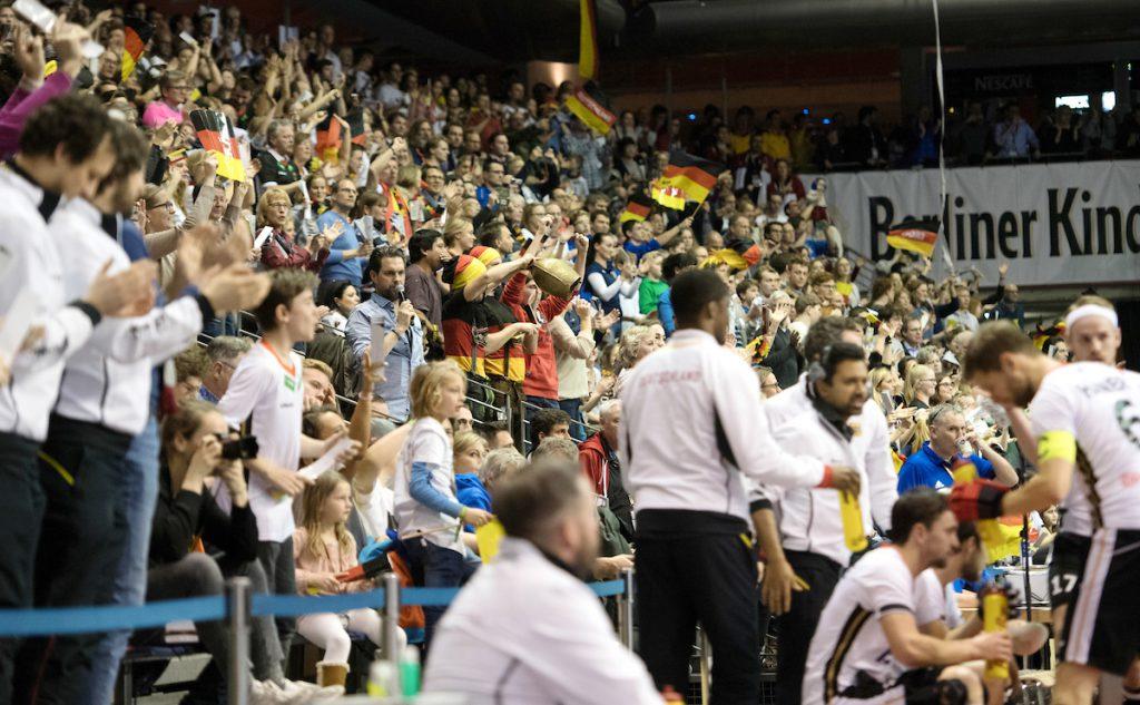 BERLIN - Indoor Hockey World Cup Final: Germany - Austria foto: Fans WORLDSPORTPICS COPYRIGHT FRANK UIJLENBROEK