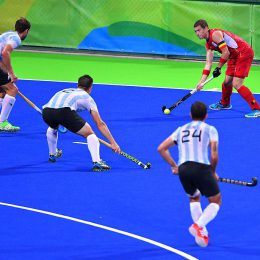 31st Rio 2016 Olympics / Hockey : BEL - ARG Men's Gold Medal Match John-John DOHMEN (BEL) /  Olympic Hockey Centre /  Summer Olympic Games /(Photo by Tim de Waele/Corbis via Getty Images)