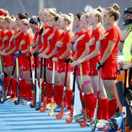 VALENCIA EuroHockey U18 Championship 2021 Russia v Germany (Pool A) Picture: line up  WORLDSPORTPICS COPYRIGHT WILLEM VERNES